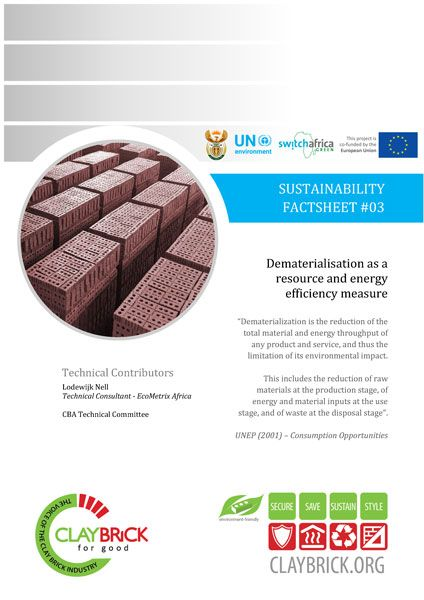 SF#03 Dematerialisation as a resource and energy efficiency